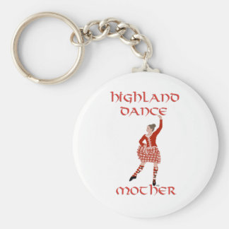 Highland Dancer Mother - Red Basic Round Button Keychain