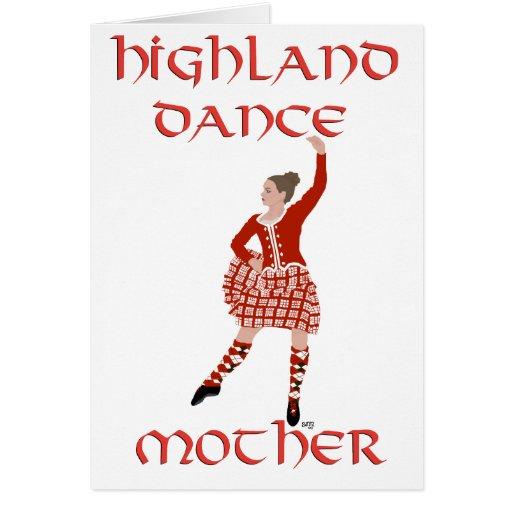 Highland Dancer Mother - Red Greeting Card