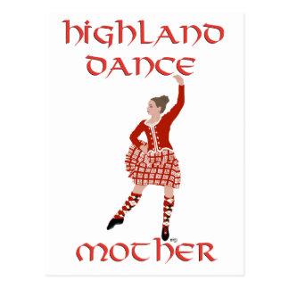 Highland Dancer Mother - Red Postcard