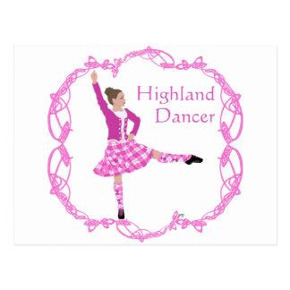 Highland Dancer Pink Aboyne Postcard