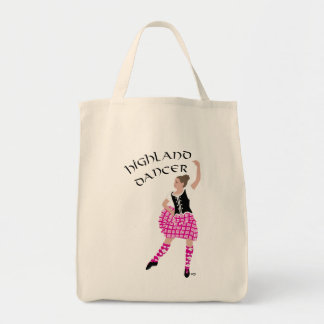 Highland Dancer Pink Canvas Bag