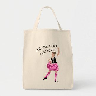 Highland Dancer Pink Grocery Tote Bag