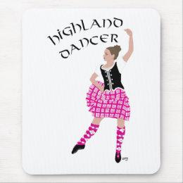 Highland Dancer Pink Mouse Pad