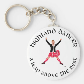Highland Dancers a Leap Above the Rest Basic Round Button Keychain
