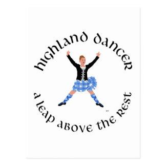 Highland Dancers - a Leap Above the Rest Postcard