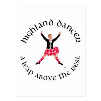 Highland Dancers a Leap Above the Rest Postcard