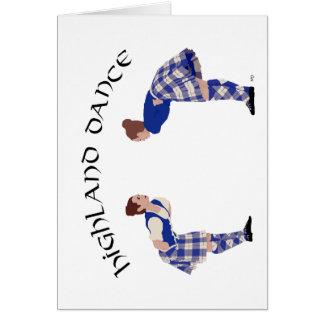 Highland Dancers Bow Card