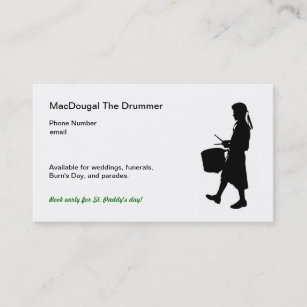 Bagpipe band business cards templates zazzle highland drumming business cards colourmoves