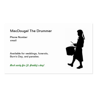 Highland Drumming Business Cards