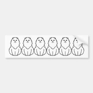 Highland Fold Cat Cartoon Bumper Sticker
