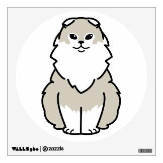 Highland Fold Cat Cartoon Wall Decal
