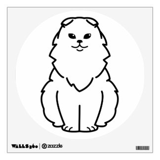 Highland Fold Cat Cartoon Wall Sticker