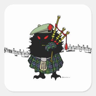 Highland Hedgehog Piper Square Sticker
