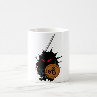 Highland Hedgehog with Claymore Sword Coffee Mugs