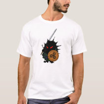 Highland Hedgehog with Claymore Sword T-Shirt