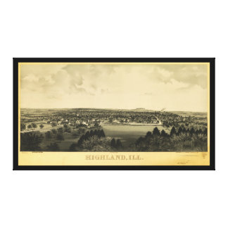 Highland Illinois circa 1894 Canvas Print