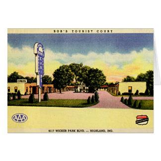 Highland, Indiana Tourist Court 1950 Card