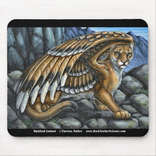 Highland Lookout Puma Cougar Mousepad