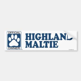 Highland Maltie Blue Bumper Sticker