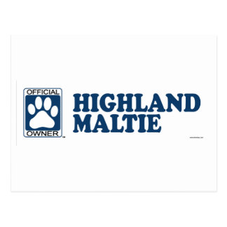 Highland Maltie Blue Postcard