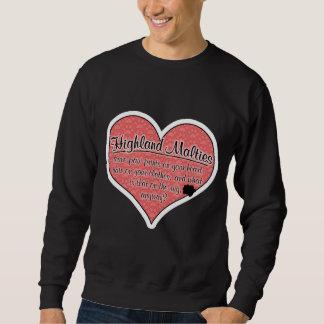 Highland Maltie Paw Prints Dog Humor Sweatshirt