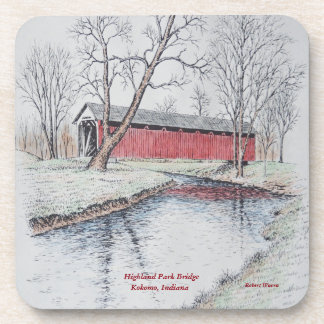 Highland Park Bridge Drink Coaster