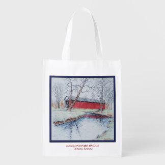Highland Park Bridge Reusable Grocery Bag