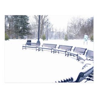 Highland Park en invierno Postal