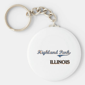 Highland Park Illinois City Classic Keychain