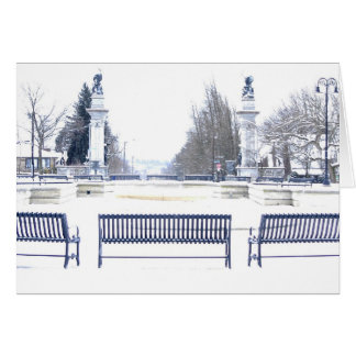 Highland Park in Winter Stationery Note Card