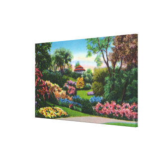 Highland Park Rhododendrons in Bloom Canvas Print