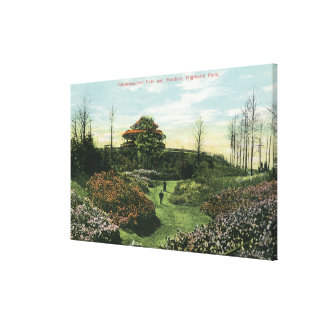 Highland Park's Rhododendron Path and Pavilion Canvas Print