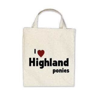 Highland ponies tote bag