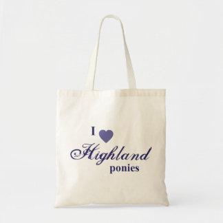 Highland ponies tote bags