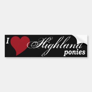 Highland ponies bumper sticker