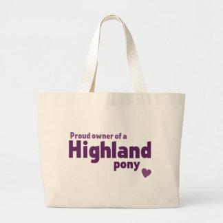 Highland pony tote bag