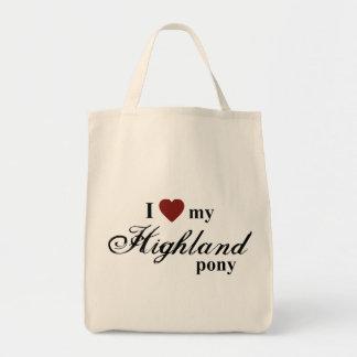 Highland pony canvas bag