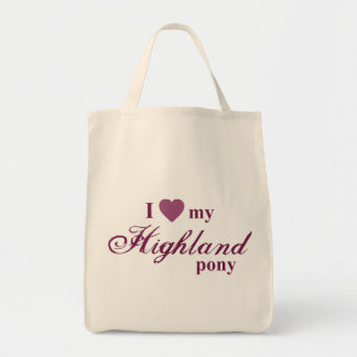 Highland pony tote bags