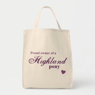 Highland pony canvas bags