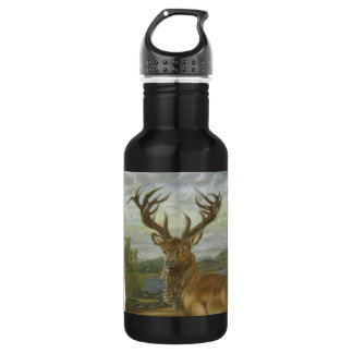 'Highland Red Stag' Oil Painting - Liberty Bottle