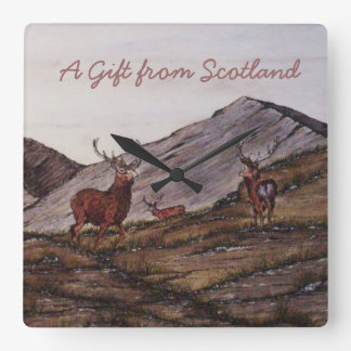 Highland Red Stags Wall Clock