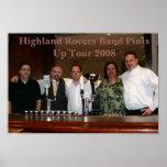 Highland Rovers Band 2008 Tour Poste Print