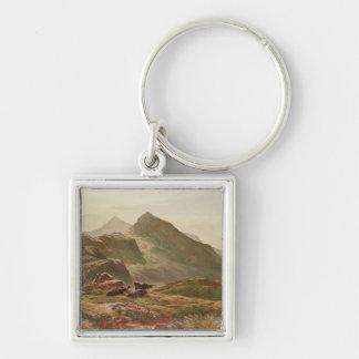 Highland scene key chain