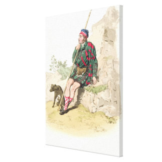 Highland Shepherd, from 'Costume of Great Britain' Canvas Print