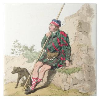 Highland Shepherd, from 'Costume of Great Britain' Ceramic Tile