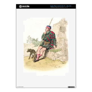 Highland Shepherd, from 'Costume of Great Britain' iPad 3 Decals