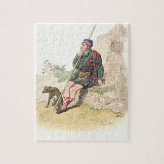 Highland Shepherd, from 'Costume of Great Britain' Jigsaw Puzzle