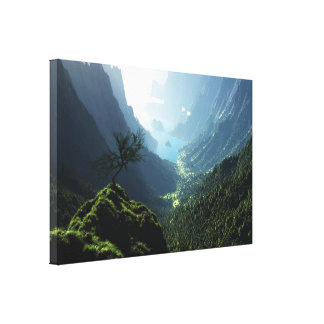 Highland Spring Wrapped Canvas Canvas Print