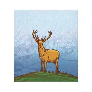 Highland stag canvas print
