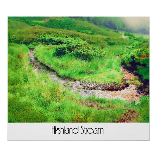 Highland Stream Poster